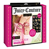 Make It Real - Juicy Couture Sweet Suede Bracelets. DIY Bracelet Making Kit for Girls. Design and Create Girls Bracelets with Suede Cord, Beads, Gold Chains and Juicy Couture Charms (Color: Multicoloured)