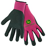 West Chester John Deere JD00021 Breathable Knit Utility Work Gloves with Nitrile Coated Grip: Pink, Women's One Size Fits Most, 1 Pair (Color: Pink, Tamaño: Women's)