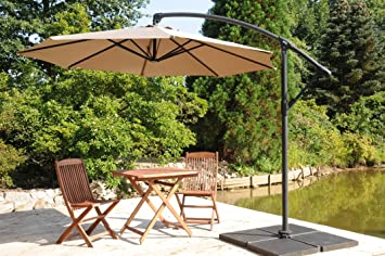 zangenberg ampelschirm haiti beige 350 cm dc4. Black Bedroom Furniture Sets. Home Design Ideas