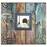 MCS 12x12 Inch Vintage Travel 20 Page Scrapbook and 3.5x3.5 Inch Cover Opening (86008)