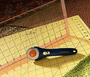 Set de herramienta cortadora rotativa Fiskars. Para papel y tela.
