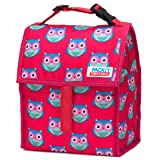 PackIt Freezable Lunch Bag with Zip Closure, Owls