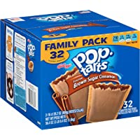 32-Pack Kelloggs Pop-Tarts Frosted Brown Sugar Cinnamon Toaster Pastries