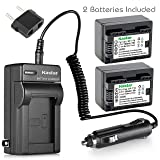 Kastar Battery BP-718 (2-Pack) and Charger for Canon BP-718 BP-727BP-709 CG-700 and VIXIA HF M50 HF M52 HF M500 HF R30 HF R32 HF R40 HF R42 HF R50 HF R52 HF R60 HF R62 HF R300 HF R400 HF R500 HF R600 (Color: 08 (COMBO: 2 BATTERIES + 1 NORMAL CHARGER KIT))