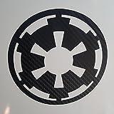 Star Wars Imperial Carbon Fiber black Cell, helmet, tablet Decal Sticker