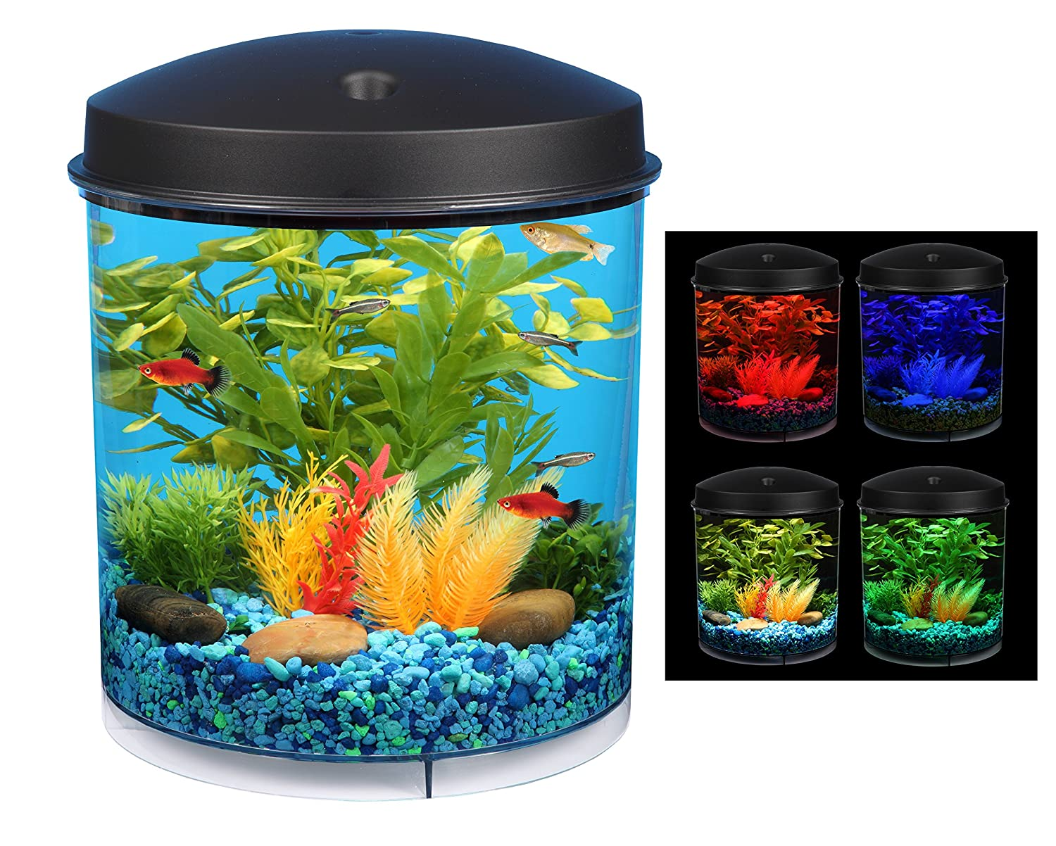 aquarium fish tank led light decoration 2 gallon w