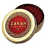 Zaran Saffron, Superior Saffron Threads (Premium) All-Red Saffron Spice (Luxury Tins, 2 grams) Premium Saffron Spice (Highest Quality Saffron for your Paella, Risotto, Golden Milk, and Persian Rice)