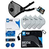 RZ M2.5 Dual Strap Mesh Dust/Air Filtration Mask Bonus Pack Mask Washable New Adjustable Straps Allergy/Asthma/Construction/Woodworking/Pollution/Adult (X-Large (215lbs +), Titanium) (Color: Titanium, Tamaño: X-Large (215lbs +))