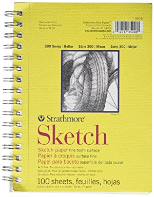 Strathmore (350-6 300 Series Sketch Pad, 5.5x8.5, 100 Sheets (Color: White, Tamaño: 5.5x8.5)