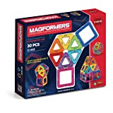 Magformers Basic Set (30 pieces) magnetic building blocks, educational magnetic tiles, magnetic building STEM toy - 63076 (Color: Rainbow, Tamaño: 1)