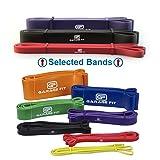 Garage Fit Resistance Bands for Pull Ups, Weightlifting Resistance Bands, Chin Up Bands, Calisthenics Pull Up Band, Pull Up Bands Assist (Bundle #1 Red & #2 Black & #3 Purple) (Color: Bundle #1 Red & #2 Black & #3 Purple)