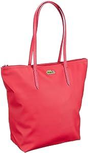 Lacoste Women Handbag, shoppers femme - Rouge - Rot (THUJA/MOTHER OF PEARL 185), 27x35x14 cm (B x H x T) EU   avis de plus amples informations