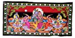 Famacart Cotton Wall Hanging Tapestry krishna Wall décor Table Runner Tapestries