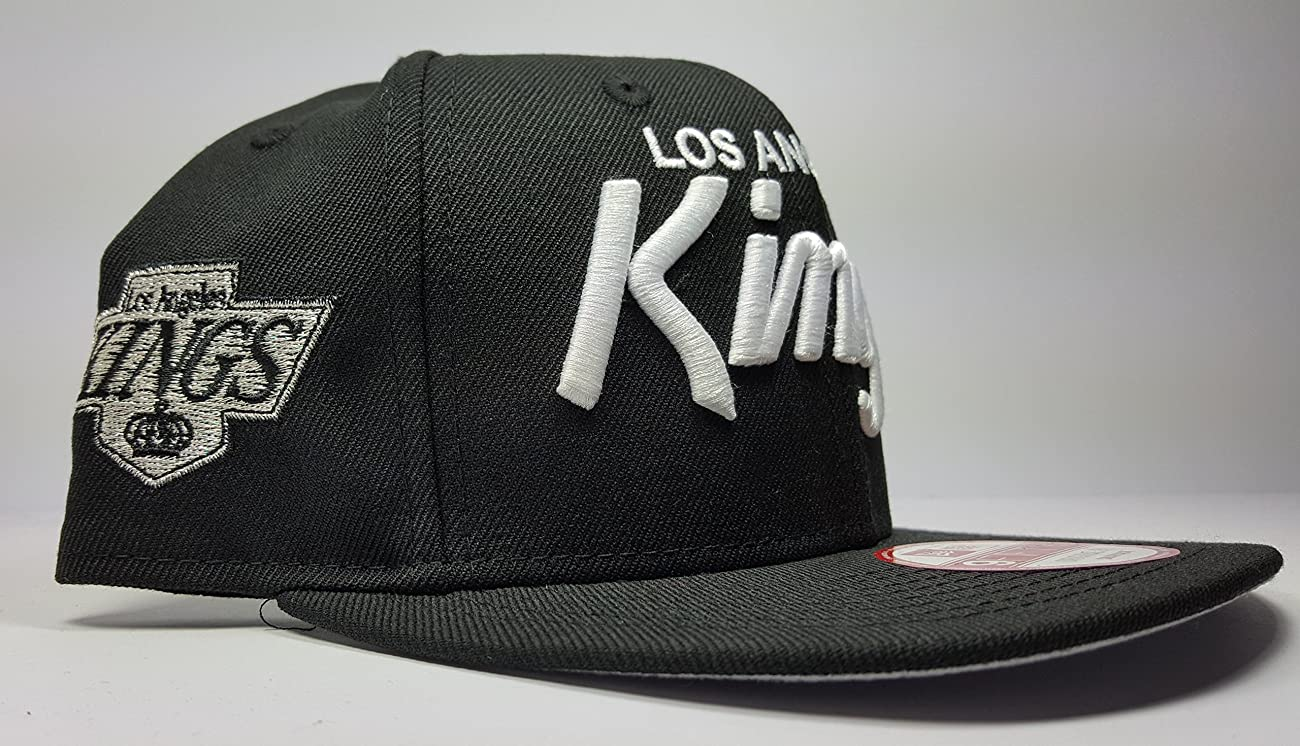 New Era Los Angeles Kings 9Fifty Black and White Vintage Script N.W.A Adjustable Snapback Hat NFL 3
