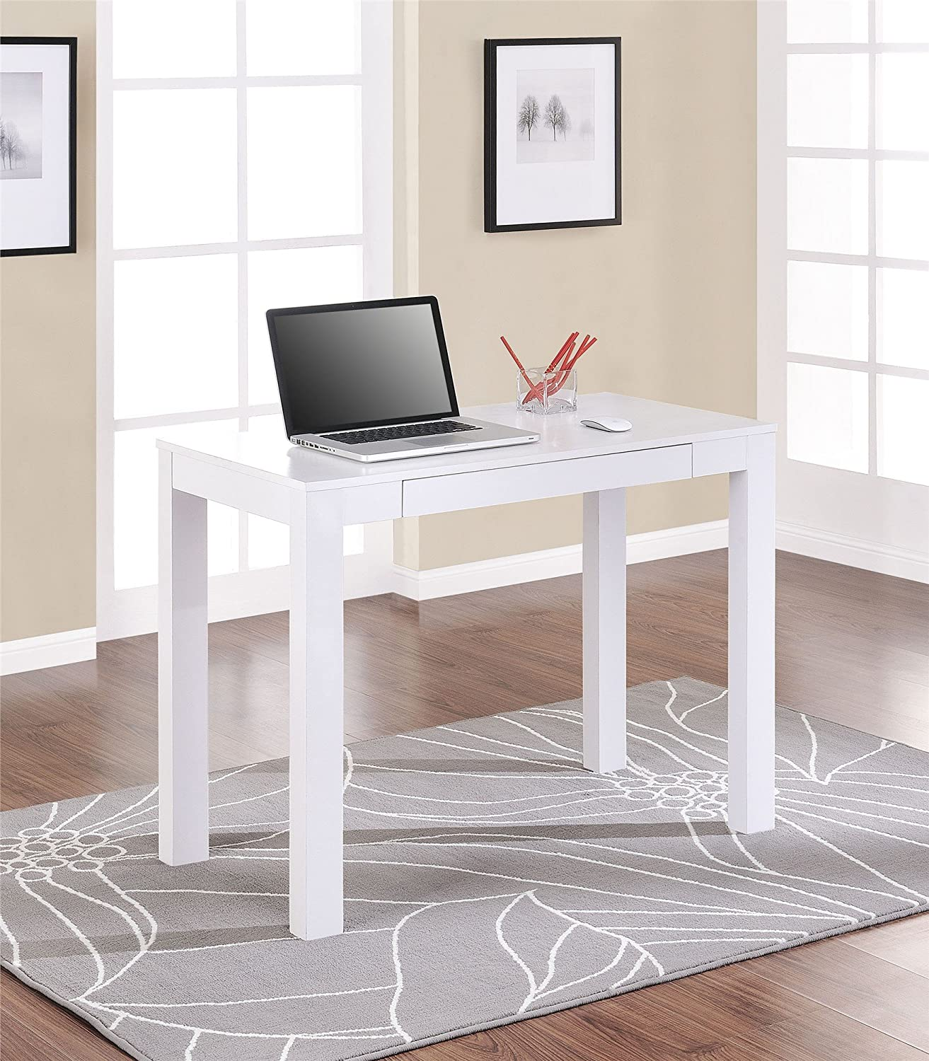 The Condo Project: 12 Minimalist White Desks to Buy or DIY for Under $250   Poor & Pretty