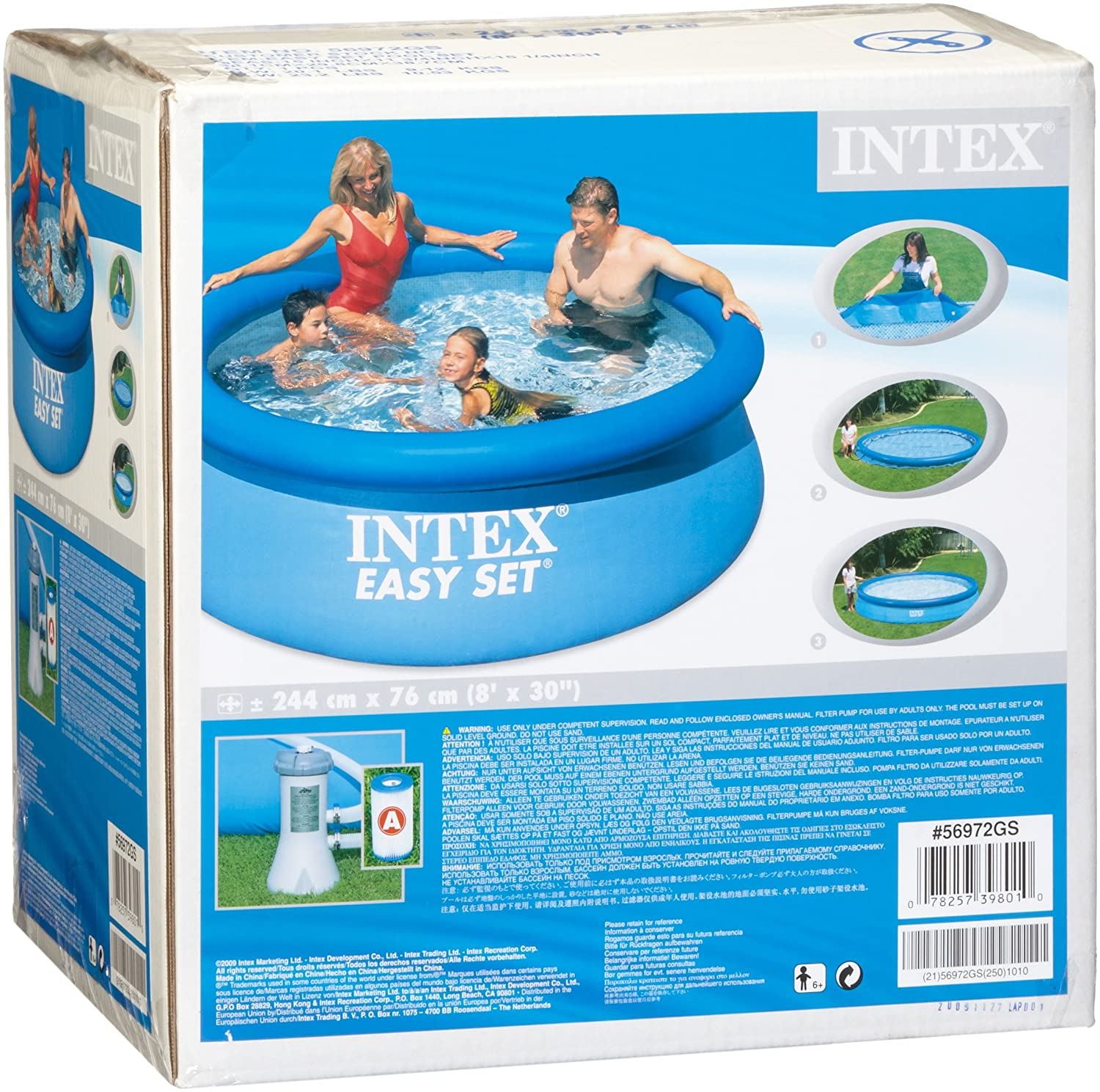 Piscine gonflable easy set intex for Easy piscine