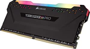 CORSAIR Vengeance RGB PRO 16GB (2x8GB) DDR4 3200MHz C16 LED Desktop Memory - Black (Color: RGB PRO - Black, Tamaño: (2x8GB))