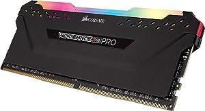 CORSAIR Vengeance RGB PRO 16GB (2x8GB) DDR4 4000MHz C19 LED Desktop Memory - Black (Color: RGB PRO - Black, Tamaño: 16GB (2x8GB))