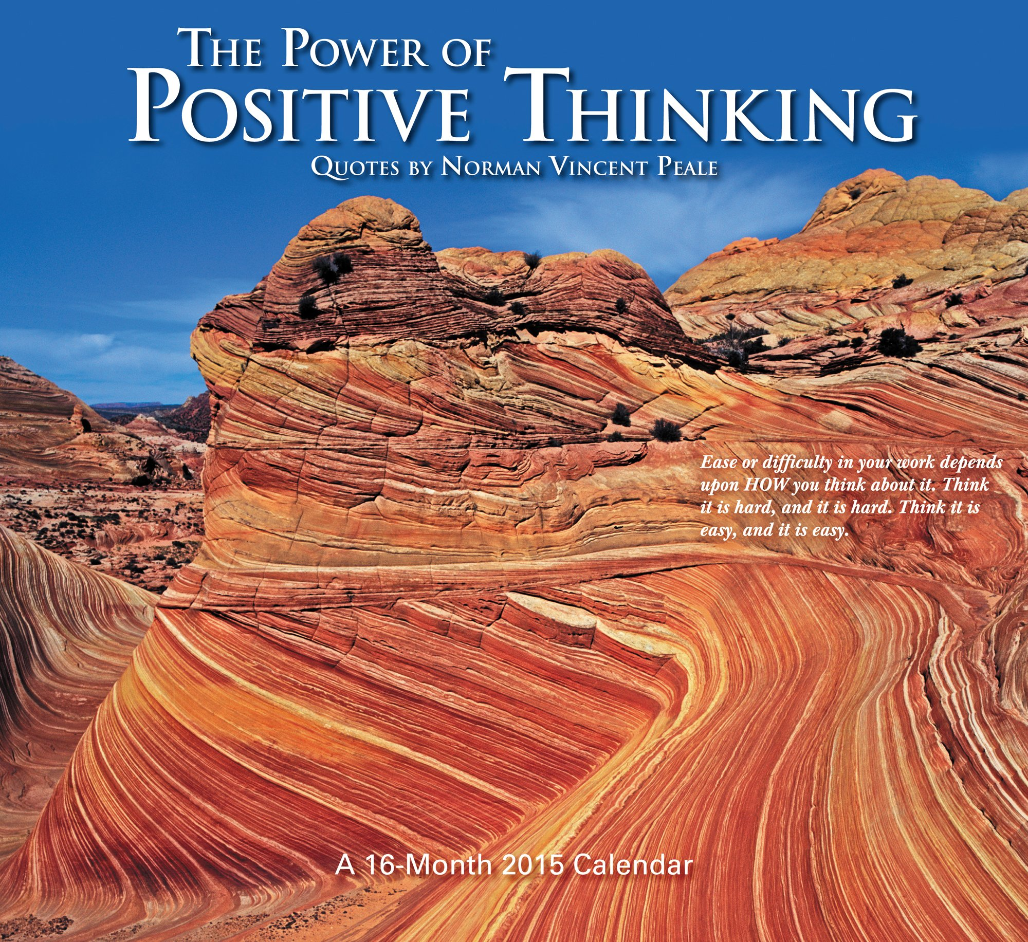 The Power of Positive Thinking 2015 Wall Calendar