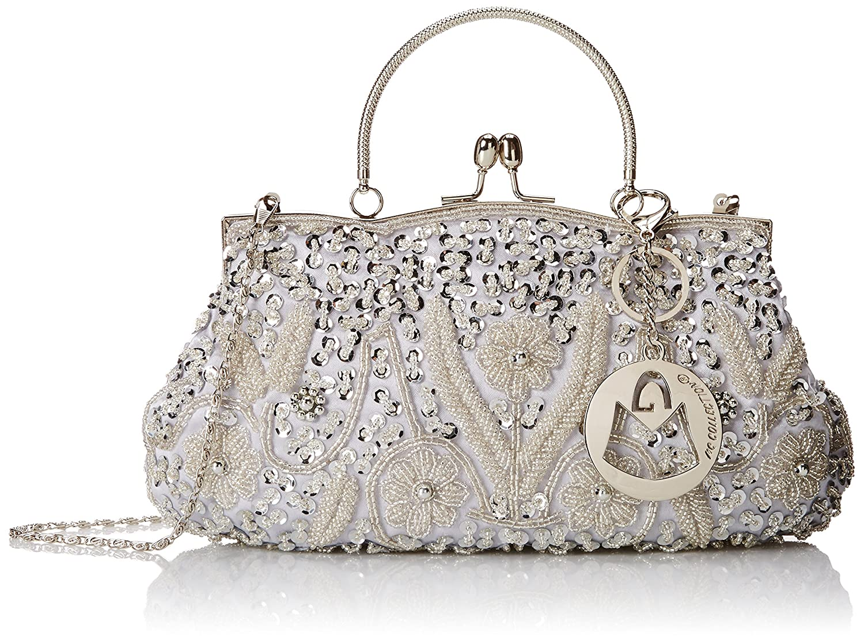 UK Women's Clutch Bag New Diamante Sparkle Prom Wedding Party Hard Case Purse