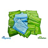 ClinicalGuard 40 Ovulation Test Strips & 10 Pregnancy Test Strips Combo (Color: Azure / Sage)
