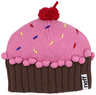 Neff Women's Cupcake Beanie Hat, Strawberry, One Size