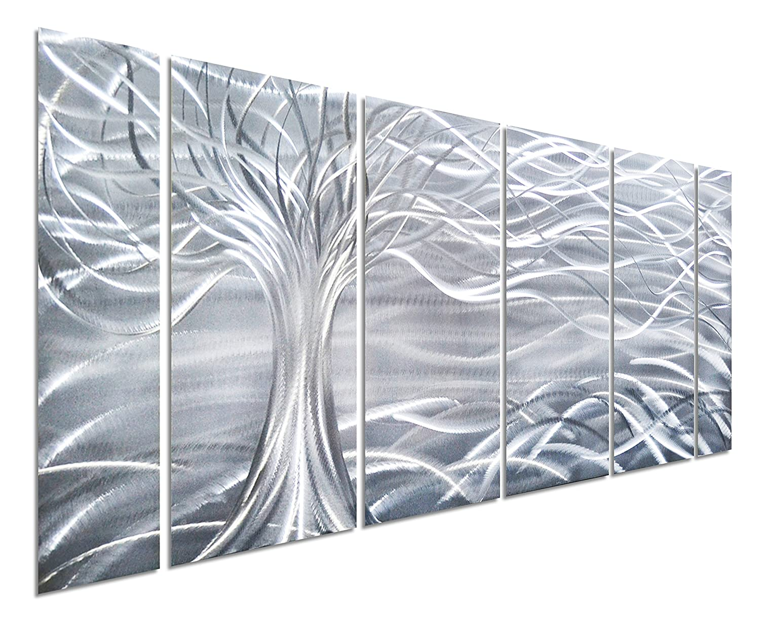 Tree of life metal wall art large decoration with branch for Aluminum decoration