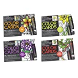 Chameleon Color Card 4 Pack Set Flowers , Nature , Zen Doodle and Totally Tattoo (Color: Multi, Tamaño: 4-x-6-Inch)