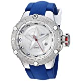 Invicta Men's 'Marvel' Automatic Stainless Steel and Silicone Casual Watch, Color:Blue (Model: 26000)