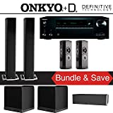 Definitive Technology BP9060 5.2-Ch High Performance Home Theater Speaker System with Onkyo TX-NR777 7.2-Ch 4K Network A/V Receiver