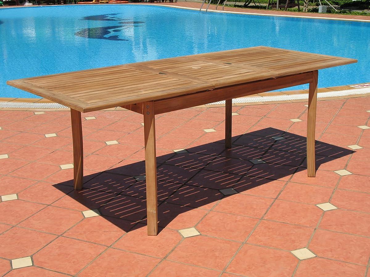 7pc Teak Wood Patio Dining Set