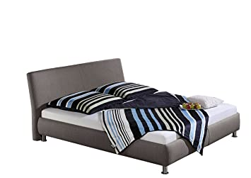 Maintal Betten 238658-3159 Polsterbett Maddy, 140 x 200 cm, Strukturstoff, anthrazit
