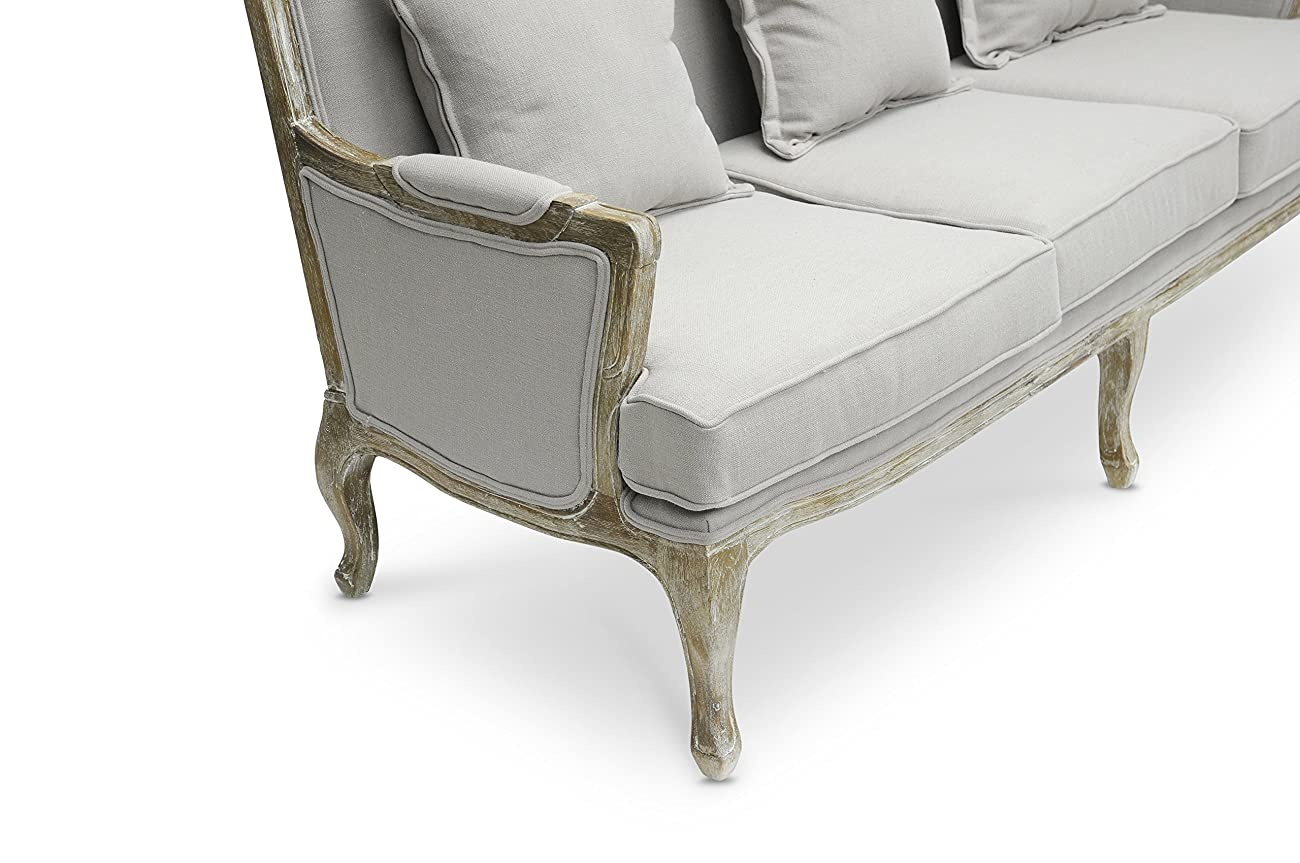 Baxton Studio Constanza Classic Antiqued French Loveseat 2