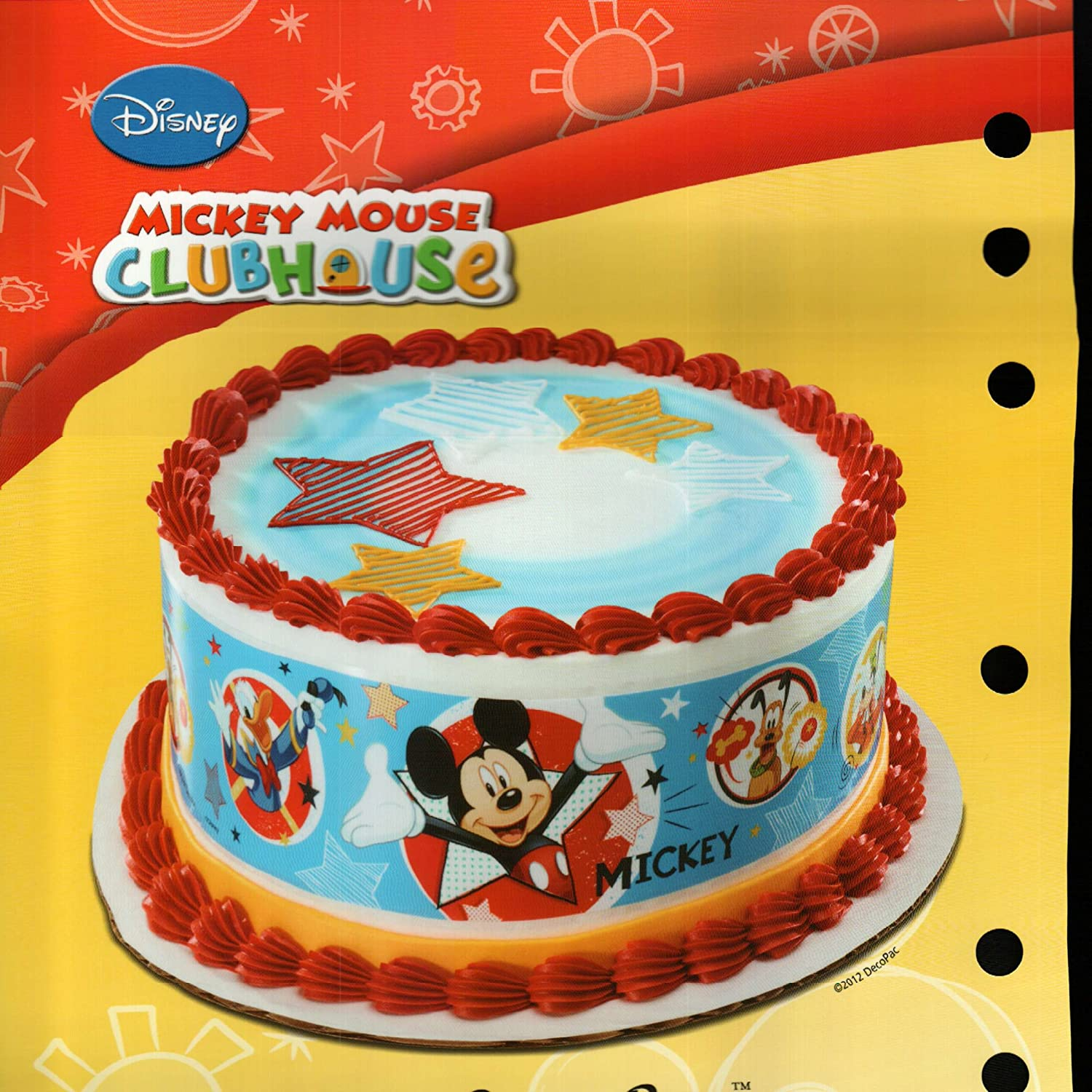 Print Edible Cake Images : Mickey Mouse Edible Image Cake Toppers Birthday Wikii