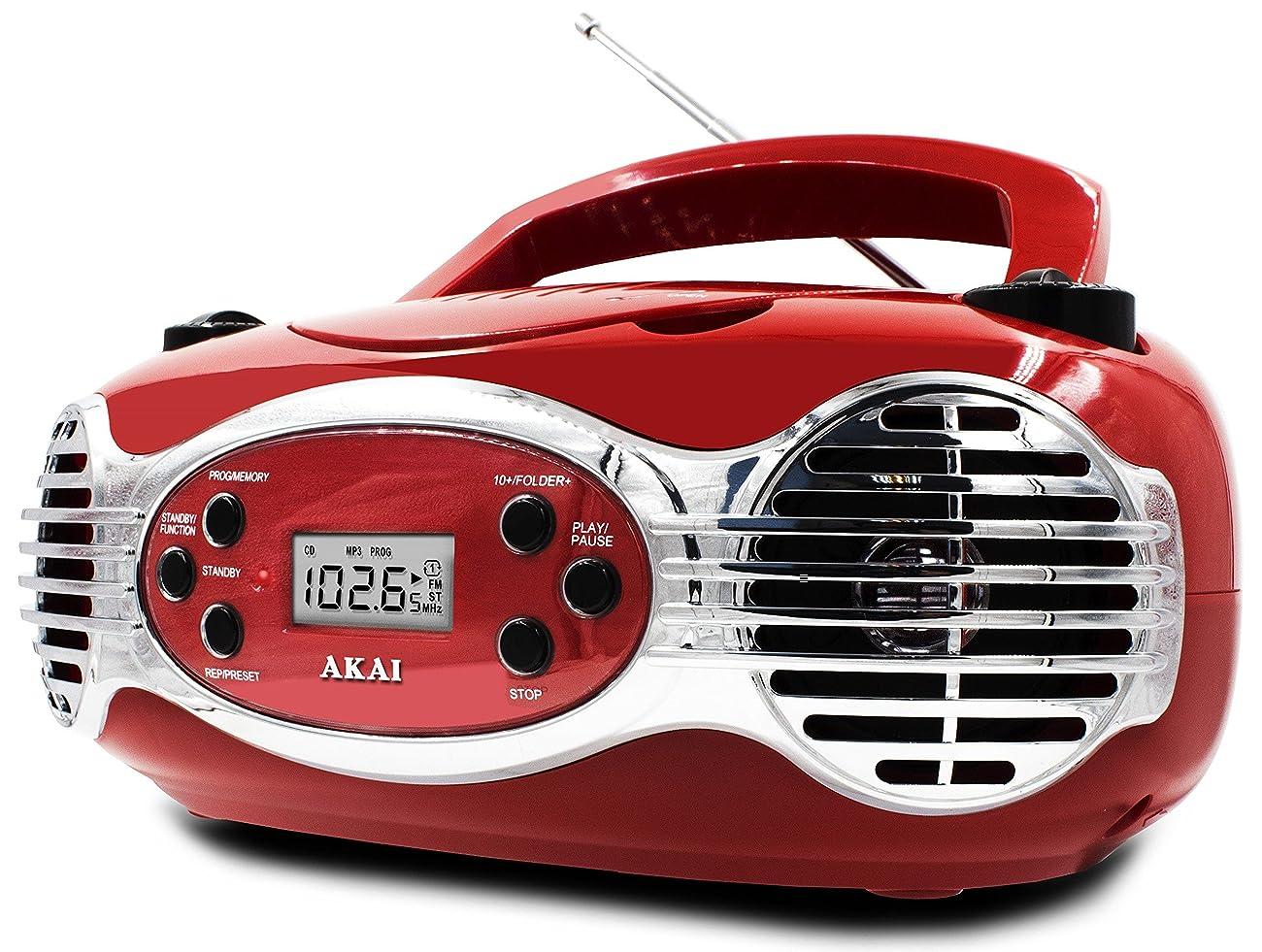 Akai CE2200R CD Boombox FM PLL Radio, Red 1
