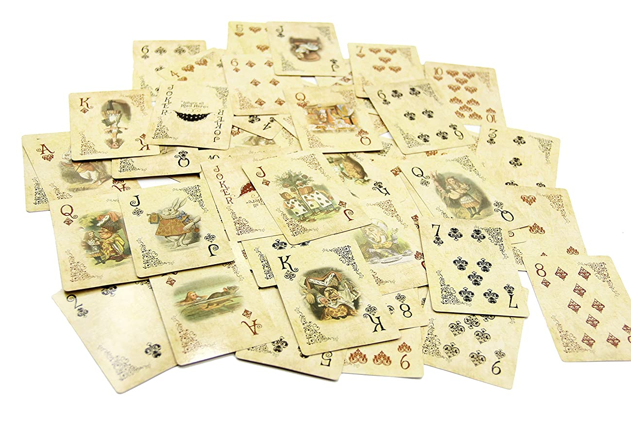 ASVP Shop® Alice In Wonderland Playing Cards Party Props Decoration Theme Full Set 0