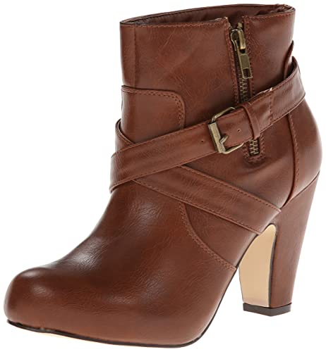 Madden Girl Women's Sharpen Boot,Cognac,6 M US