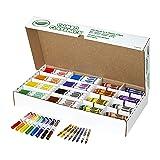 Crayola Bulk Markers and Crayons, 256 Count Classpack (Color: Assorted, Tamaño: Standard)