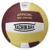 Tachikara Sensi-Tec Composite High Performance Volleyball (Cardinal/White/Vegas Gold)
