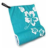 "Microfiber Beach Towels for Travel - Quick Dry & Lightweight Towel for Swimmers - Sand free Towel - Oversized Beach Blanket & towel for kids & adults - Compact Sports & Pool towel 57""x28"" (Color: Cool Aqua)"