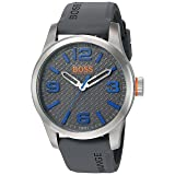 BOSS Orange Men's Paris Quartz Stainless Steel Casual Watch (Model: 1513349) (Color: Grey)