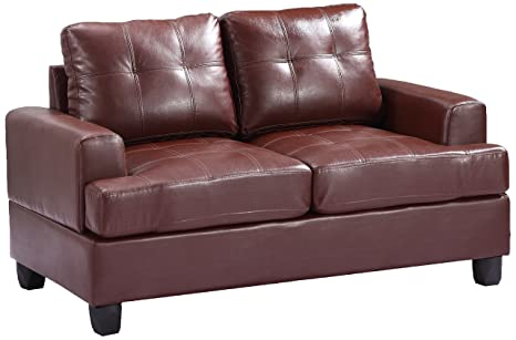 Glory Furniture G580A-L Living Room Love Seat, Brown