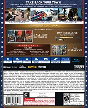 Far Cry 5 Steel book - PlayStation 4 Gold Edition (Color: gold)