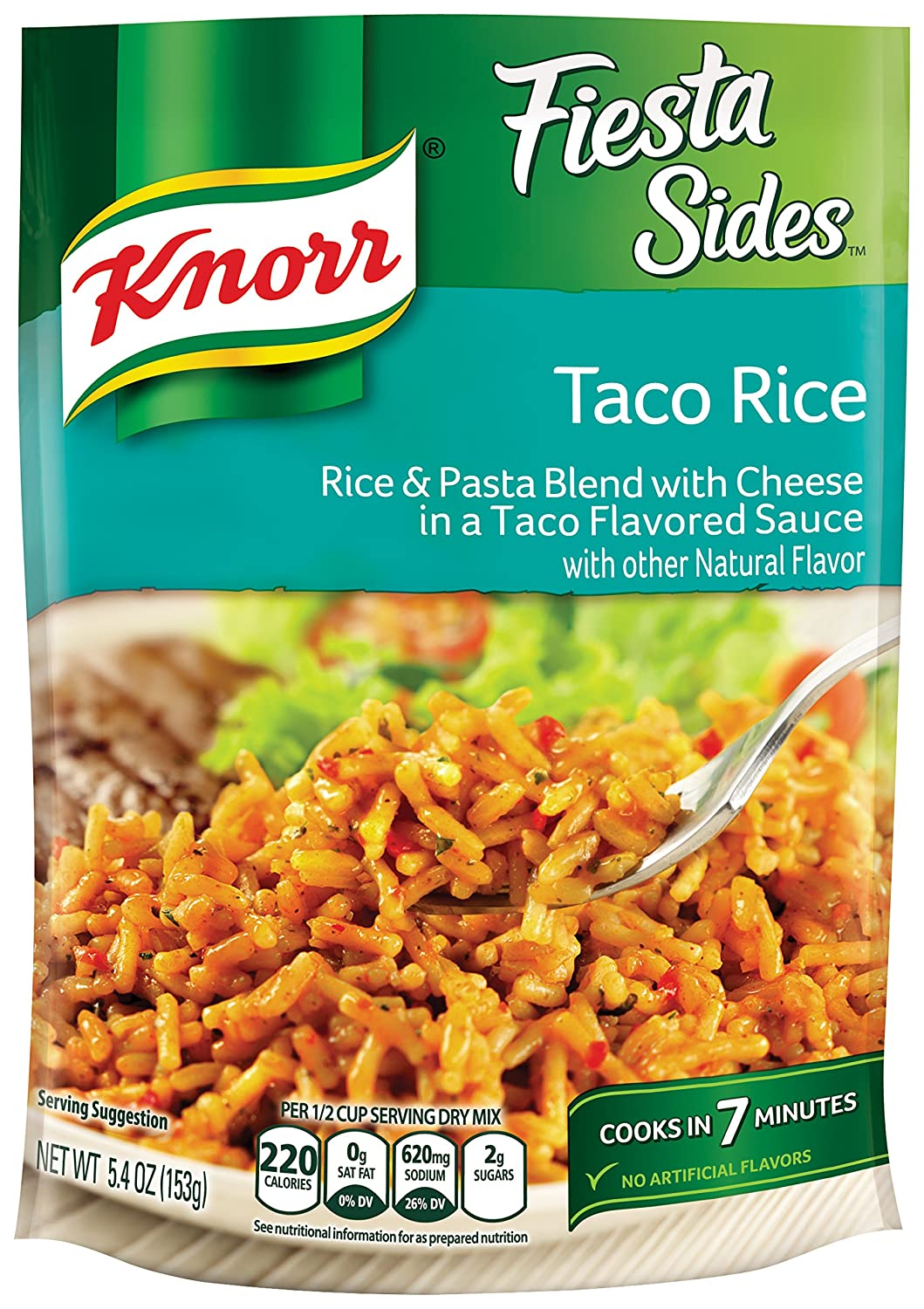 Knorr Fiesta Sides, Taco Rice, 5.4 Ounce