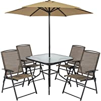 Best Choice Products 6pc Outdoor Folding Patio Dining Set with Table