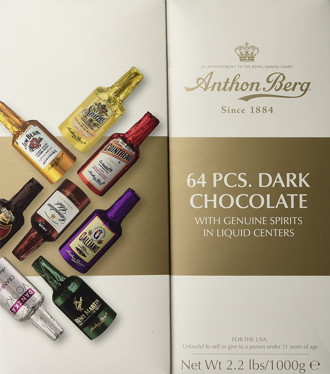 Anthon Berg, Chocolate Liqueurs with Original Spirits, 64 Pieces / Gift Set by Anthon Berg (Foods)