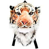 VIAHART Authentic Tigerdome Orange Bengal Tiger Animal Head Backpack and Wall Mount | Shipping from Texas (Color: Orange, Tamaño: Large)