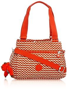 Kipling Orelie, Sacs portés épaule mode femme - Rouge (Chevron Red Pr)   Commentaires en ligne plus informations