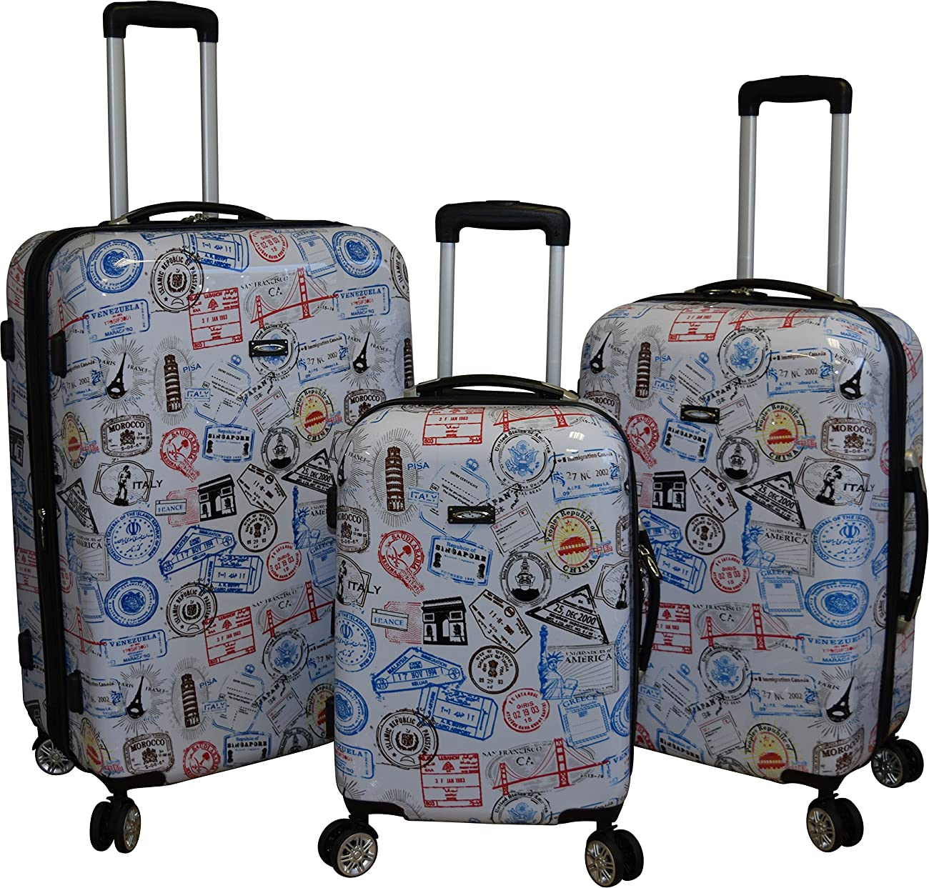 Kemyer 788 Vintage World Series Lightweight 3-PC Expandable Hardside Spinner Luggage Set 0