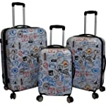 Kemyer 788 Vintage World Series Lightweight 3-PC Expandable Hardside Spinner Luggage Set